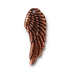 TierraCast Left Angel Wing Charm, Antique Copper